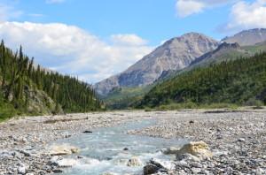 alaska wilderness stream mountains