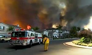 Neighborhood and fire engine posh