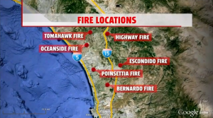 SD fires map