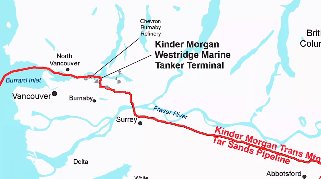 The end of Kinder Morgan's Pipeline – Taken from the Wilderness Committee's Video Save The Salish Sea