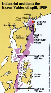 Extent of Exxon Valdez oil spill (earthly issues.com)