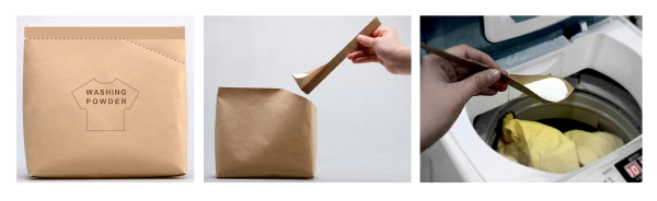 One-piece detergent container concept (pdsf.com and yankodesign.com)