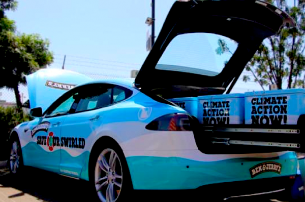 Vermont now has an eco-friendly ice cream truck--a 100% electric Tesla Model S. (benjerrys.com)