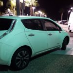 Nissan LEAF glowing